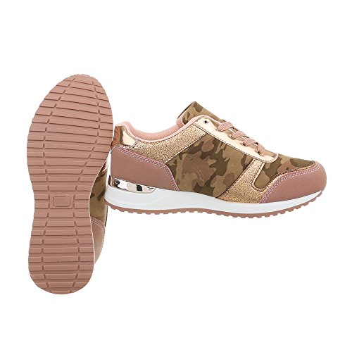 Bas Casual Rose design Femmes Italien Sneakers Chaussures nw71Rzq8F