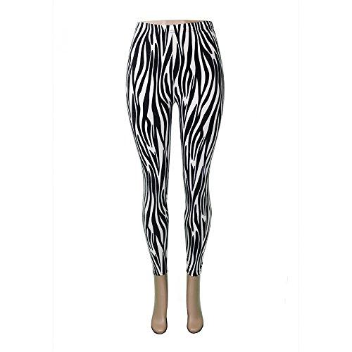 Zebra Print Yoga Pants - 3