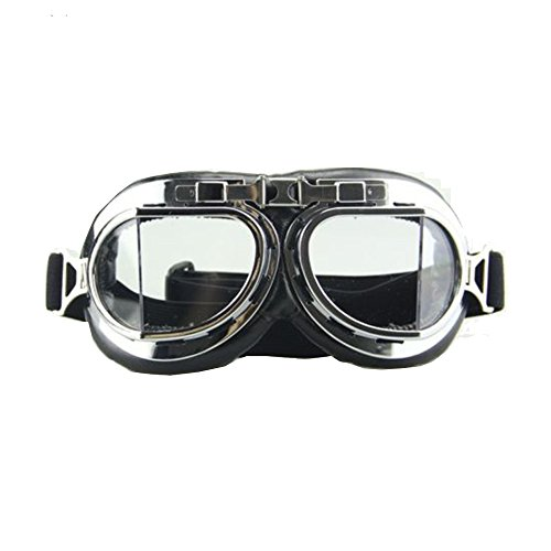 Vintage Motorcycle Cruiser Scooter Goggle Ski Snowboard Bike Racer MTB Bicycle Glasses -