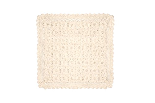 Ribbon Doilies (Heritage Lace Blue Ribbon Crochet Doily, 14 by 14-Inch, Cream)