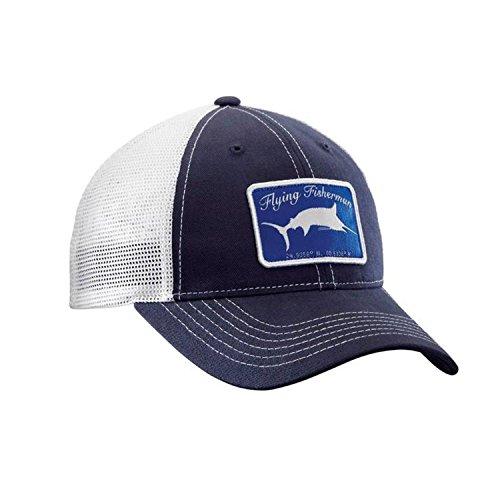 Flying Fisherman Marlin Trucker Hat, Navy/White