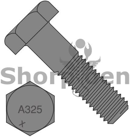 Box of 45 Heavy Hex Structural Bolts A325-1 Plain Made in North America 1-8 x 2 1//2 BC-10040A325-1 Weight 39.6 Lbs