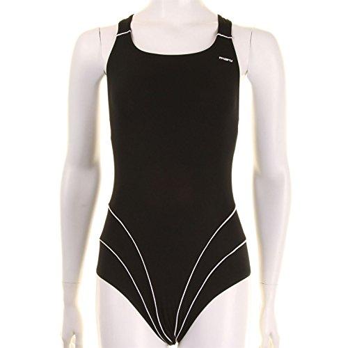 Maru Mujer Pac Traje De Bano Nadar Natacion Banador Playa Piscina Agua Casual Black/White