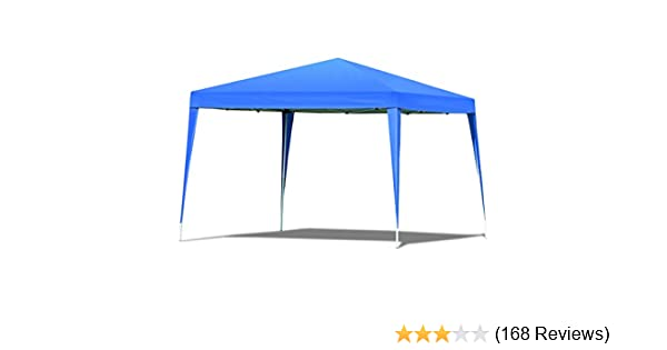 Tangkula Outdoor Tent 10'X10' EZ Pop Up Portable Lightweight Height  Adjustable Study Instant All Weather Resitant Event Party Wedding Park  Canopy