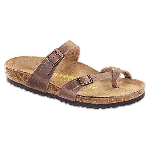 (Birkenstock Women's, Mayari Thong Sandals Tobacco 41 M)