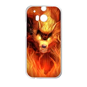 HTC One M8 Cell Phone Case White League of Legends Firefang Warwick LOL-STYLE-7473