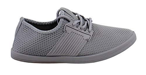 Grey Shoes Femme En By Basket Confort Toile 4wqn8RY