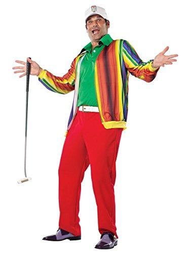 Rasta Imposta Caddyshack Al Czervik Costume, Multi-Colored, One Size (Caddyshack Halloween Costumes)