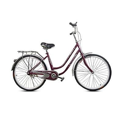 Omeng 26'' Comfort Urban Commuter Bike?Single Speed, Pink?