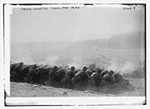 Photo (M): French Infantry firing from trench