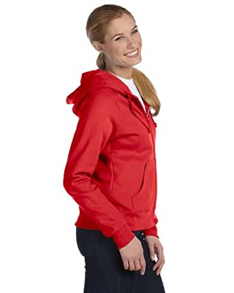 Hanes Women's EcoSmart Cotton-Rich Full-Zip Hoodie Sweatshirt,  Medium  - Deep Red
