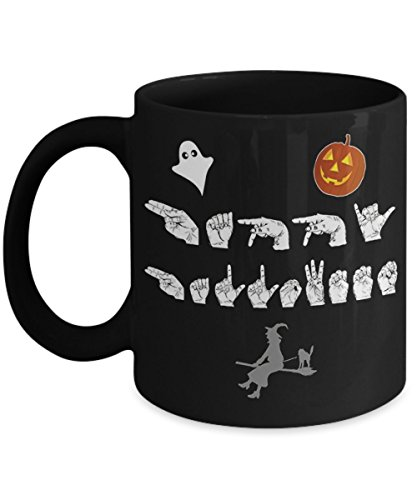 ASL Happy Halloween Sign Language Mug -
