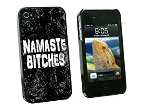 Graphics and More Namaste Bitches Distressed Inspirational Snap-On Hard Protective Case for Apple iPhone 6 plus 5.5 - Non-Retail Packaging - Black