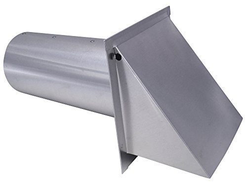 5 Inch Wall Vent Aluminum Damper & Screen (5 Inch Diameter) - Vent Works