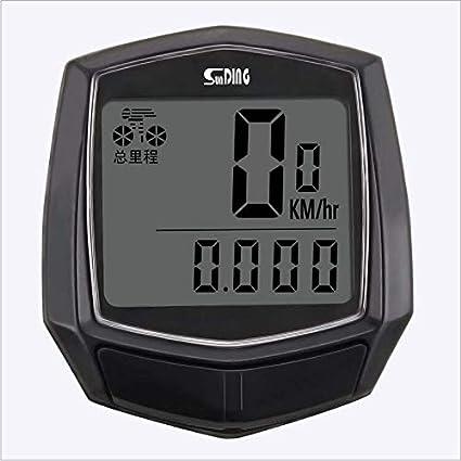 Betuy Fahrradcomputer verdrahtet 15 Funktionen wasserdichte LCD Geschwindigkeit Fahrradtacho Radcomputer Tacho f/ür Radsport Realtime Speed Track