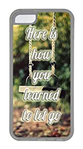 Let Go Customize TPU Soft Case Back Cover for Apple iPhone 5C Transparent