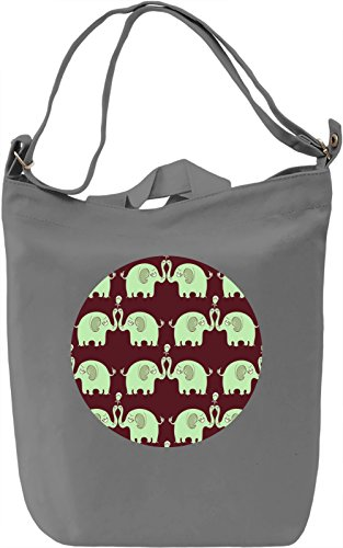 Sad Elephants With Flowers Borsa Giornaliera Canvas Canvas Day Bag| 100% Premium Cotton Canvas| DTG Printing|