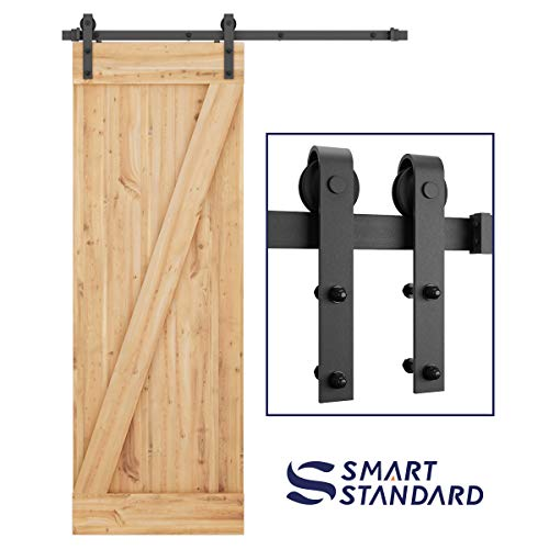 Hardware Price Guide - SMARTSTANDARD 5ft Heavy Duty Sturdy Sliding Barn Door Hardware Kit -Smoothly and Quietly -Easy to Install -Includes Step-by-Step Installation Instruction Fit 30