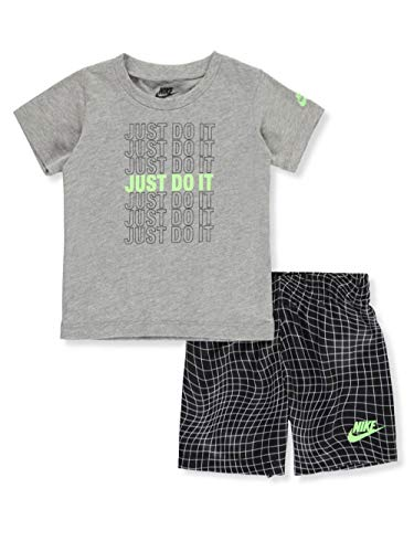 Nike Baby Boys' 2-Piece Shorts Set Outfit - Black, 24 Months (Nike Outfit)