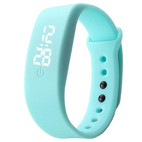 WMWMY Reloj de Pulsera de Silicona Deportes de Hombres Slim Señoras Digital LED Reloj Hombre de Ocio Watch,Azul Cielo: Amazon.es: Electrónica