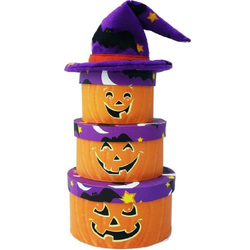 Pumpkin Patch Halloween Candy and Treat Gift Tower