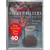 tea maker one cup - Mini Minit Coffee Filter, Number 1-Size, 1-Cup Capacity, 40 Filters and 1 Holder