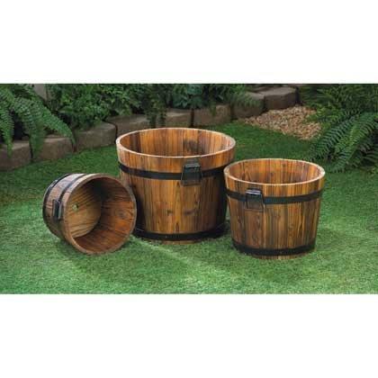 wine barrel pot - 1