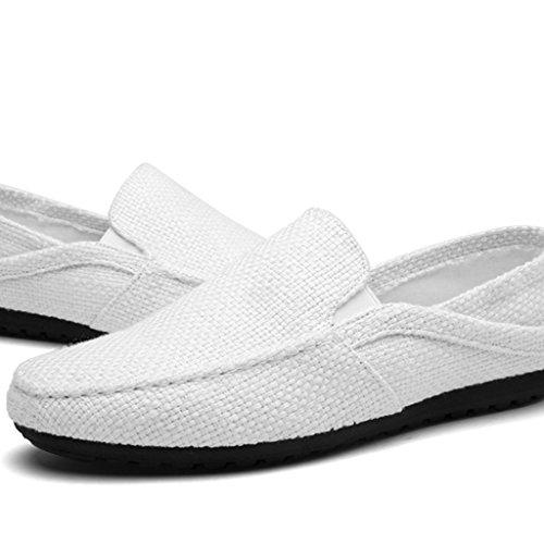 da uomini YaNanHome traspirante basse tela coreano Beige scarpe Espadrillas Size uomo da di di di 41 tela estate casual scarpe Bianca tela stile Scarpe Scarpe uomo Color scarpe aa8wvr