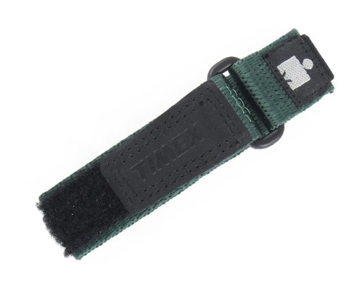 TIMEX WOMENS 12-16MM BLACK GREEN HOOK & LOOP NYLON IRONMAN EXPEDITION FAST WRAP SPORT WATCH BAND STRAP (Strap Ironman Timex Replacement)