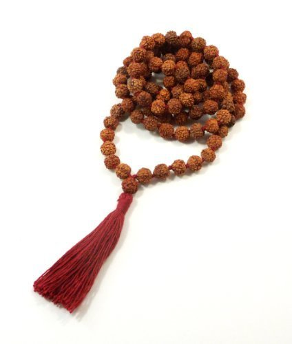 Rudraksha Meditation Mala 8mm 108 Beads Top Quality ()