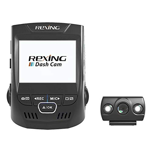 Rexing V1P 2.4' LCD FHD 1080p 170 Degree Wide Angle Dual Channel Dashboard Camera Recorder Car Dash...
