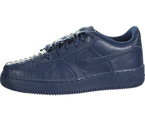 - Nike Kids Air Force 1 QS (GS) Navy/Navy/University Red Basketball Shoe 6 Kids US