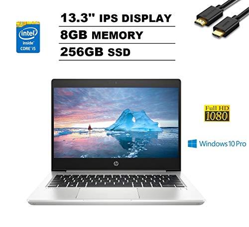 "HP ProBook 430 G6 13.3"" FHD Full HD 1080p IPS Business Laptop (Intel Quad-Core i5-8265U, 8GB DDR4 RAM, 256GB PCIe M.2 SSD) Backlit, Type-C, RJ-45, Windows 10 Pro + IST Computers HDMI Cable"