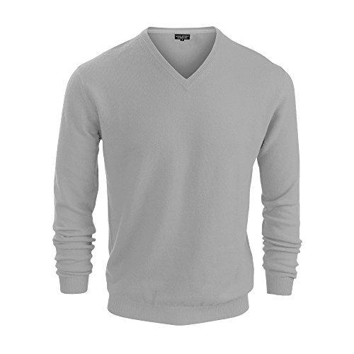 Men Sweater Republic Banana (Banana Republic Mens Cotton V Neck Sweater (Grey, Small))