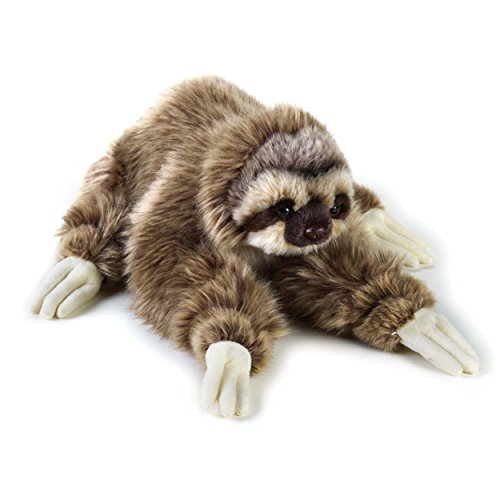 1 Piece 13 5 Inches Brown White Color Three Toed Sloth Animal Stuffed Toy  Zootopia Movie Inspired For Kids Girls  Plush Toy Cute Cuddly Fluffy Ant Eater Mammal Jungle Safari Themed  Polyester