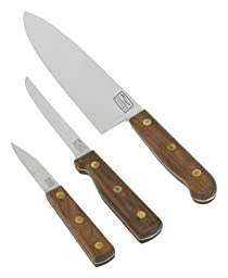Chicago Cutlery Walnut Tradition 3-Piece Prep Knife Gift Set