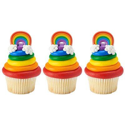 - 12 ct. Traditional Rainbow Cupcake Rings