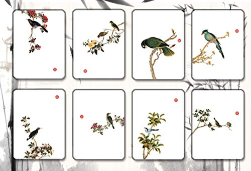 (Izett CK Zen 8pcs Birds Ink Painting Hand-Drawn Embossed Card for Thankgiving Thank You Cards 8pcs Assorted Blank Note Cards Zen Idea )