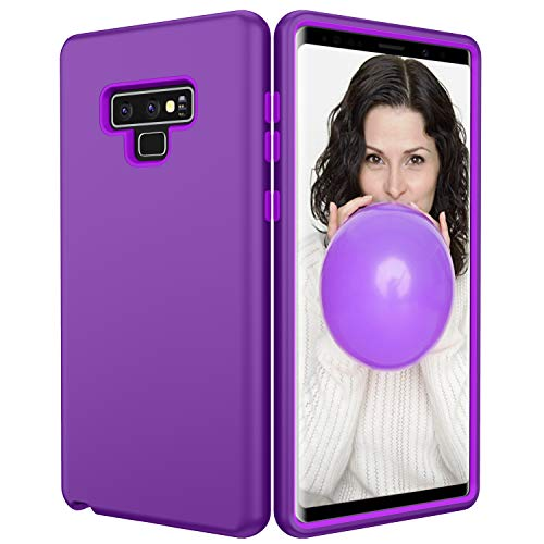 Galaxy Note 9 Case, UZER Shockproof Anti Slip 3 in 1 Hybrid Soft Interior Silicone Bumper & Hard Back Cover Heavy Duty Rugged Combo Full-Body Protective Case for Samsung Galaxy Note 9 6.4