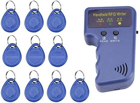 手持ち型のRFIDの読者 - 10PCS IDの札が付いている125KHz手持ち型のRFIDの作家/コピー機/読者/複写機
