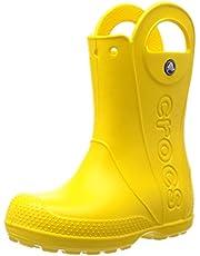 Crocs Crocband Rain Boot Kids, Unisex-Kinder Gummistiefel, Grün (Neo Mint/Light Grey 3to), 30/31 EU (Herstellergröße: 13)