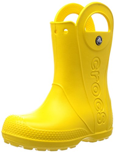 Crocs Kids' Handle It Rain Boots, Easy On for Toddlers, Boys, Girls, Lightweight and Waterproof, Yellow, 3 M US Little Kids