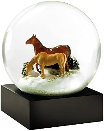CoolSnowGlobes Horses Cool Snow Globe