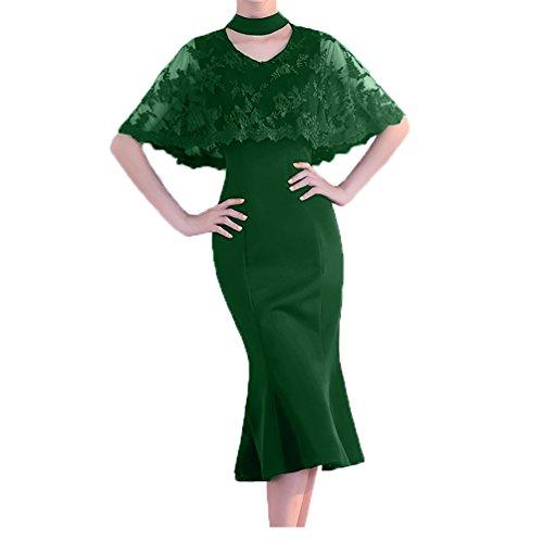 Fesltichkleider Grün Damen mit Spitze Neu 2018 Brautmutterkleider Partykleider Charmant Meerjungfrau Abendkleider PgqO04xx