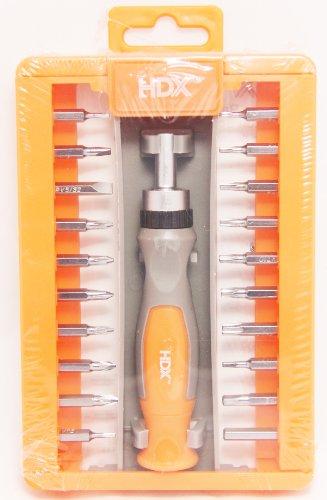 hdx-21-piece-ratcheting-precision-screwdriver-set