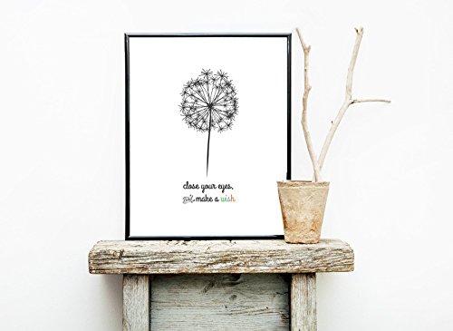Make a Wish Print. Kids Room, Nursery Decor, Stylish Wall Art.