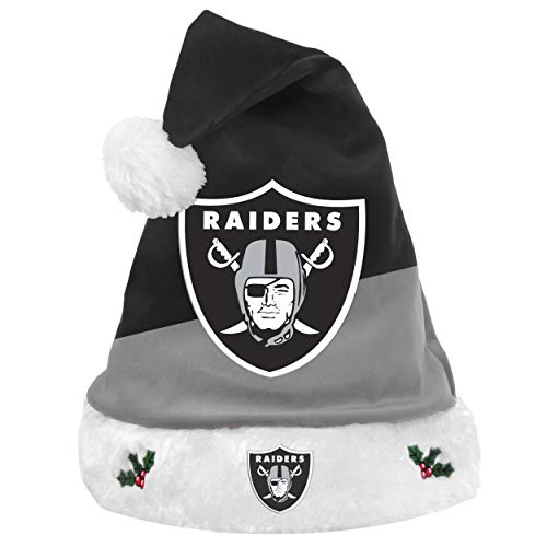 FOCO NFL Oakland Raiders 2018 Basic Santa Hat, Team Color, One -