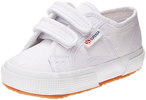 Superga Kids Unisex 2750 JVEL Classic (Toddler/Little Kid) White Sneaker 31 (US 13.5 Little Kid) M ()