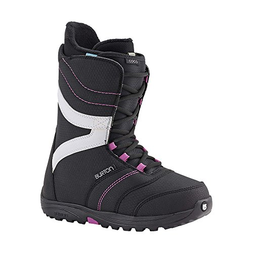 2002 Womens Snowboard Boots - Burton Coco Snowboard Boot - Women's Black/Purple, 8.0