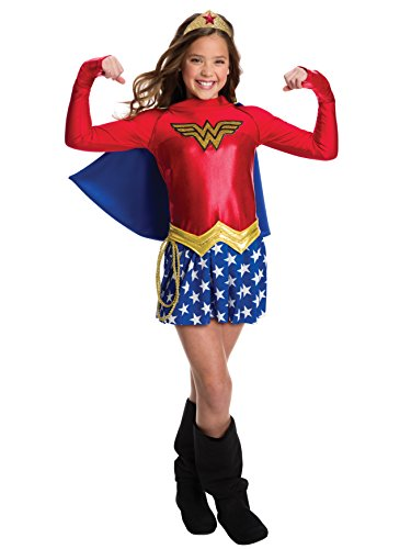 Rubie's Costume Girls DC Comics Wonder Costume, Medium, Multicolor -